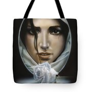 The Face In The Mirror Tote Bag