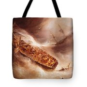 The Act Of Sacrifice Made By Captain Desse Towards The Dutch Ship Columbus Tote Bag