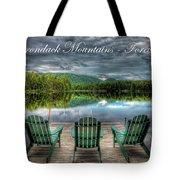 The Adirondack Mountains - Forever Wild Tote Bag