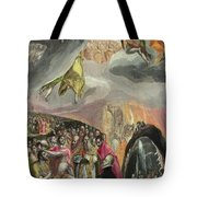 The Adoration Of The Name Of Jesus Tote Bag
