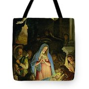 The Adoration Of The Shepherds Tote Bag by Federico Zuccaro
