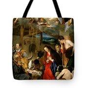 The Adoration Of The Shepherds Tote Bag by Fray Juan Batista Maino or Mayno