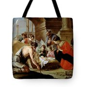The Adoration Of The Shepherds Tote Bag by Louis Le Nain