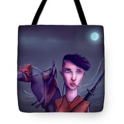 The Adventures Of Punk Sword Girl And The Dragon Rabbit  Tote Bag