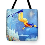 The Aerial Skier 18 Tote Bag