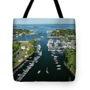 The Aerial View To The Mamaroneck Marina, Westchester County Tote Bag