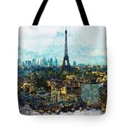 The Aesthetic Beauty Of Paris Tranquil Landscape Tote Bag