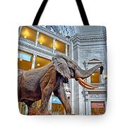 The African Bush Elephant In The Rotunda Of The National Museum Of Natural History Tote Bag