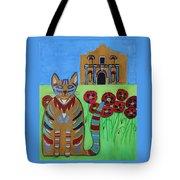 the Alamo Cat Tote Bag