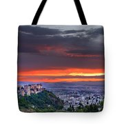 The Alhambra And Granada City Tote Bag
