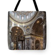 The Altar And Dome In St Peter's Basilica Tote Bag