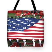 The American Flag Tote Bag by Allen Beatty