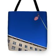 The American Flag At The United States Department Of State Tote Bag