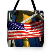 Tribute To The American Flag Oil Industry Tote Bag