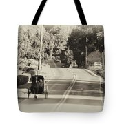 The Amish Buggy Tote Bag by Bill Cannon