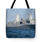 The Amphibious Transport Dock Ship Uss Tote Bag