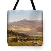 The Amphitheatre Of Tusculum And Albano Mountains. Rome Tote Bag