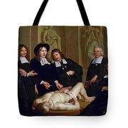 The Anatomical Lesson Of Professor Frederik Ruysc Tote Bag