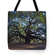 The Angel Oak In Spring Tote Bag