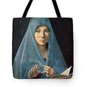 The Annunciation Tote Bag by Antonello da Messina