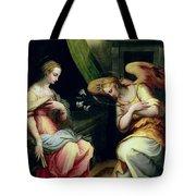 The Annunciation Tote Bag by Giorgio Vasari