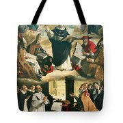 The Apotheosis Of Saint Thomas Aquinas Tote Bag by Francisco de Zurbaran