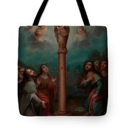 The Apparition Of The Virgin Of El Pilar To St. James Tote Bag