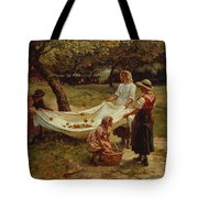 The Apple Gatherers Tote Bag by Frederick Morgan