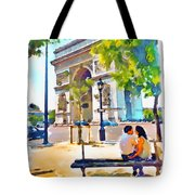 The Arc De Triomphe Paris Tote Bag
