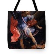 The Archangel Michael Defeating Satan Tote Bag