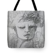 The Archangel Michael By Alice Iordache Original Drawing Tote Bag