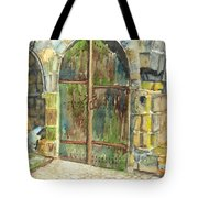 The Archways Of Bandouille 12th Century Monastery Sevres France Tote Bag