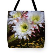 The Argentine Giant Amongts The Yellow Wildflowers Tote Bag