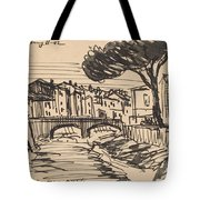 The Arno In The Evening, Florence Tote Bag