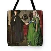 The Arnolfini Marriage Tote Bag by Jan van Eyck