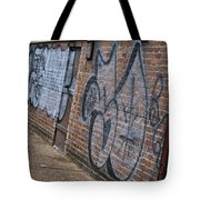 The Art On The Brick Tote Bag