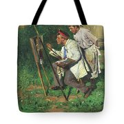 The Artist And The Apprentice  Tote Bag