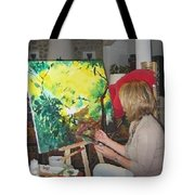 The Artist At Work. Tote Bag by Lizzy Forrester