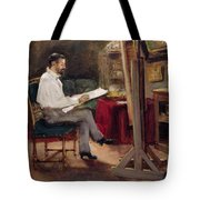 The Artist Morot In His Studio Tote Bag
