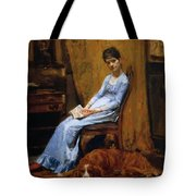 The Artist Wife And His Setter Dog 1889 Tote Bag