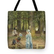 The Artist's Wife And Daughters In A Park At Heringsdorf Tote Bag
