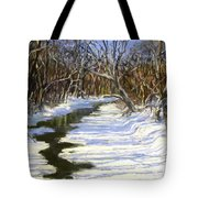 The Assabet River In Winter Tote Bag