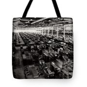 The Assembly Plant Of The Bell Aircraft Corporation In 1944 Tote Bag