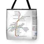 The Atlanta Pubway Map Tote Bag