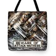 The Attack Waitress  Tote Bag