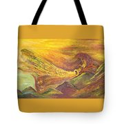 The Autumn Music Wind Tote Bag