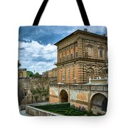 The Back Of The Pitti Palace In Florence Tote Bag