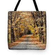 The Back Road In Autumn Tote Bag