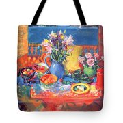The Balcony Table Tote Bag