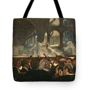 The Ballet Scene From Meyerbeer's Opera Robert Le Diable Tote Bag by Edgar Degas